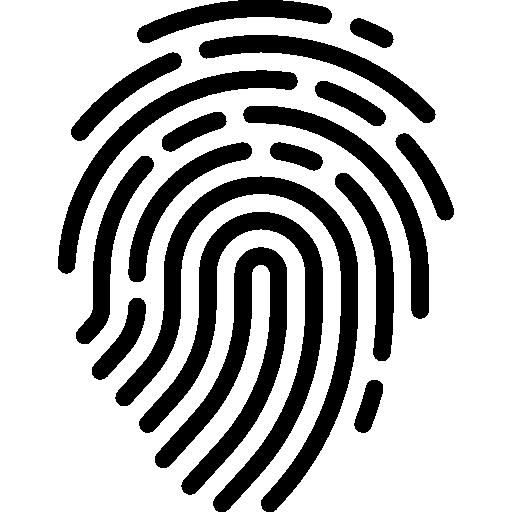 svg stock Fingerprint Icons