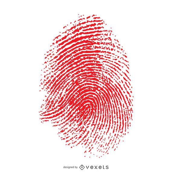 image freeuse download Red isolated fingerprint illustration