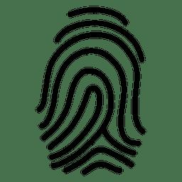 graphic Simple fingerprint illustration