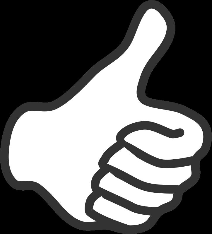 clip art Thumbs clipart. Thumb up white medium
