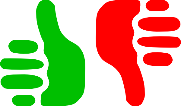 svg library Thumbs Up Thumbs Down Clipart