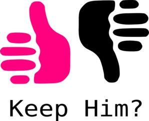 banner stock Thumbs Up Thumbs Down Pink And Black Clip Art at Clker