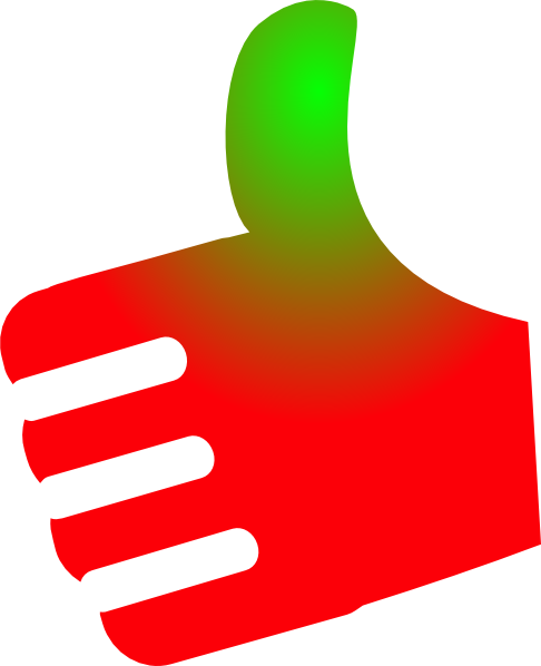 jpg free library Thumb Up Red