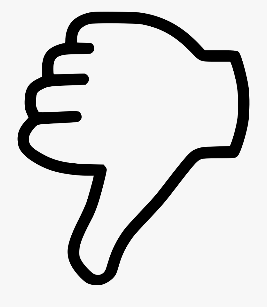 graphic freeuse download Black dislike thumb outline. Thumbs down clipart.