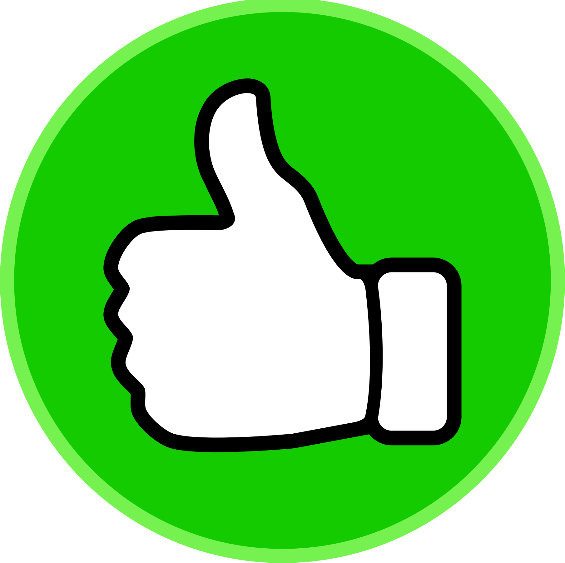 banner transparent Thumbs up circle big. Yes clipart two