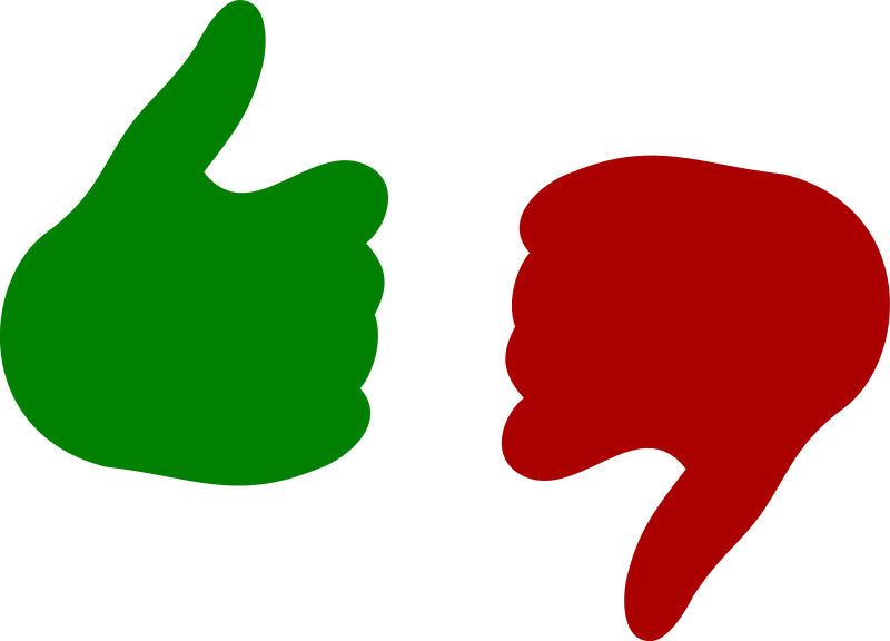 banner library Thumb and down medium. Yes clipart thumbs up icon