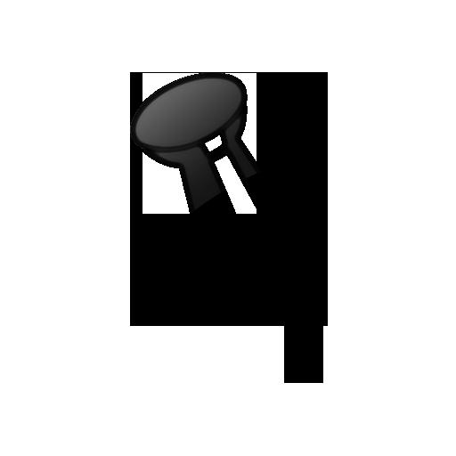 svg free download thumbtack transparent white #104811593