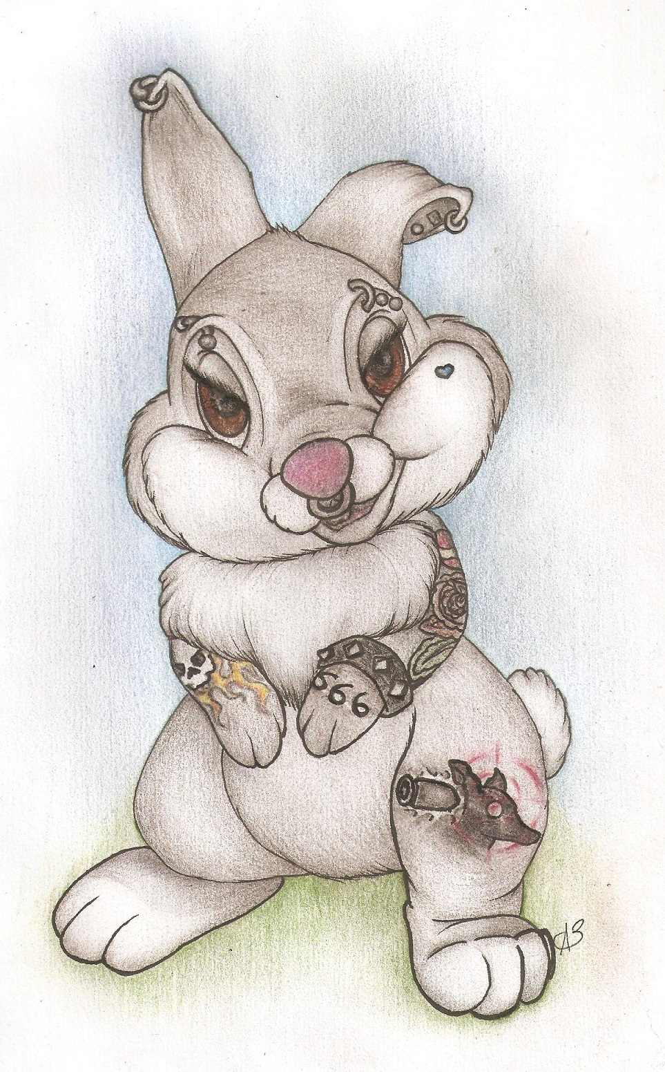 clipart royalty free stock badass Thumper by aggrobaer on DeviantArt