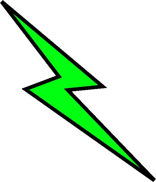 clip art transparent library Green lightning panda free. Thunder bolt clipart