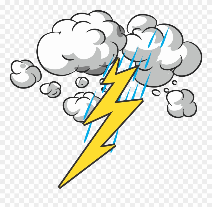 jpg black and white library Collection of high . Thunder and lightning clipart