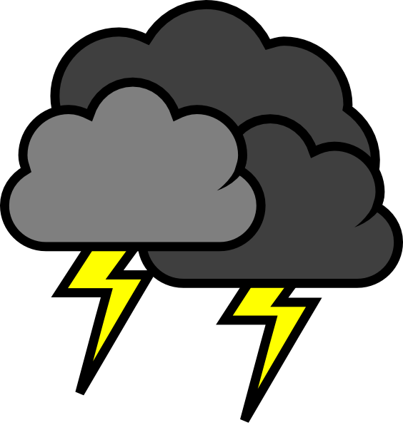 banner library library Lightening clouds clip art. Thunder clipart
