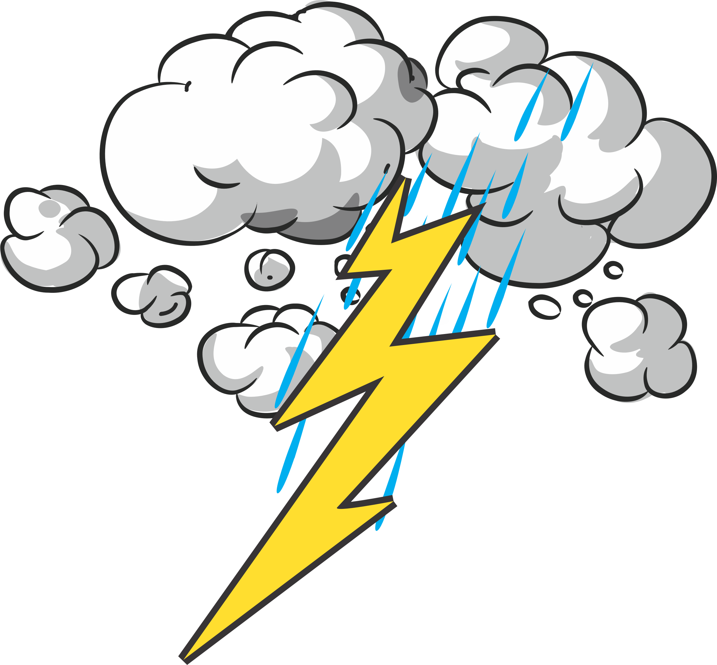 banner freeuse download Thunder and lightning clipart. Big image png