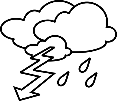 library Thunder clipart black and white.  collection of stormy