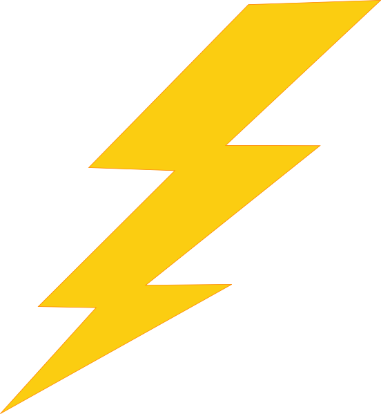 png royalty free download Thunder Bolt Plain Clip Art at Clker