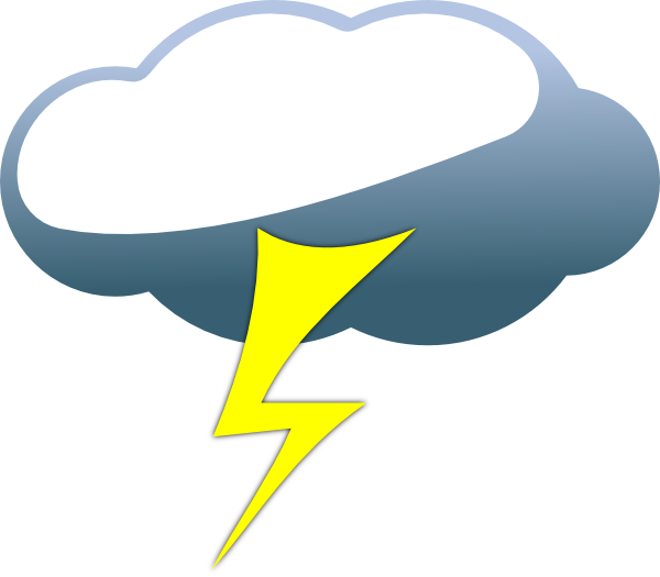 clipart library Lighting clipart lightning cloud. Lightening double free on