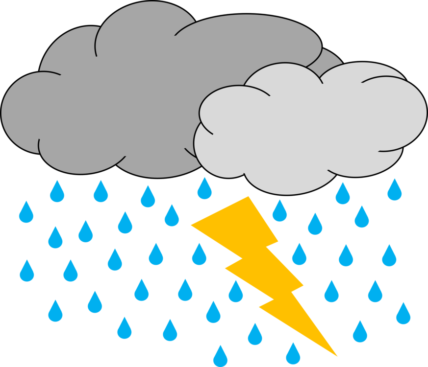 vector stock Thunder and lightning clipart. Can stock photo thunderstorm