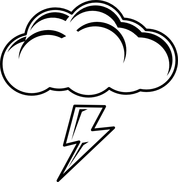 clip library stock Thunder cloud clipart. Thundercloud bw clip art