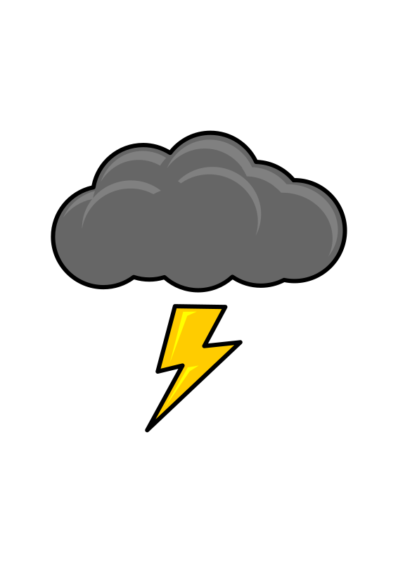 clip art free download Thunder clouds clipart. Thundercloud medium image png