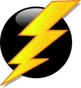 vector Lightning icon clip art. Thunderbolt clipart