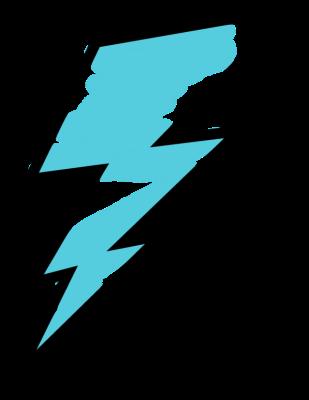 banner download Blue Lighting Bolt