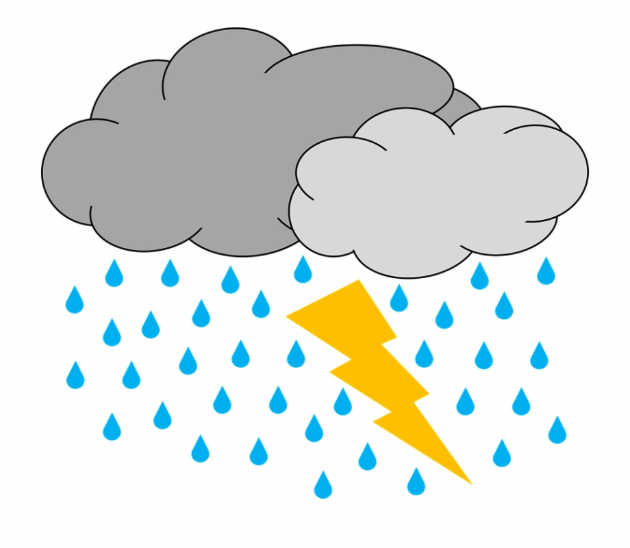 banner freeuse library Cloud rain and thunder. Thunderstorm clipart