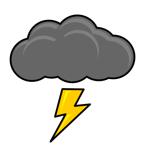transparent download Thunderstorm cloud . Clipart thunder.