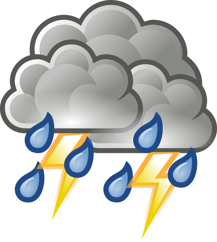 black and white stock Thunderstorm clipart. File weather rain svg