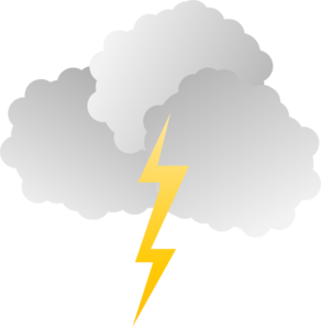 vector transparent download Clouds And Lightning Clip Art at Clker