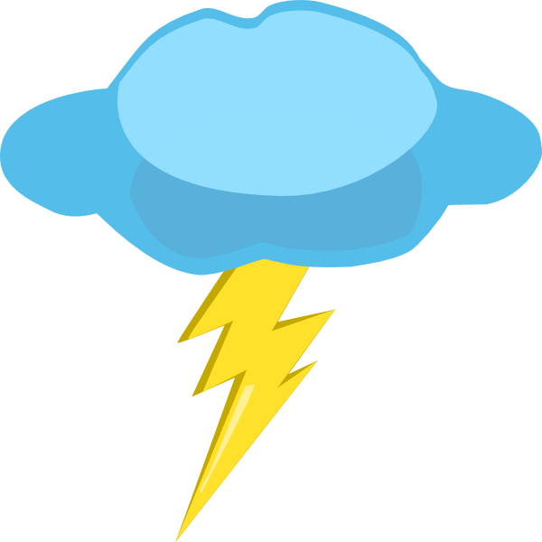 vector stock Thunderstorm clipart thunder lighting. And lightning at getdrawings