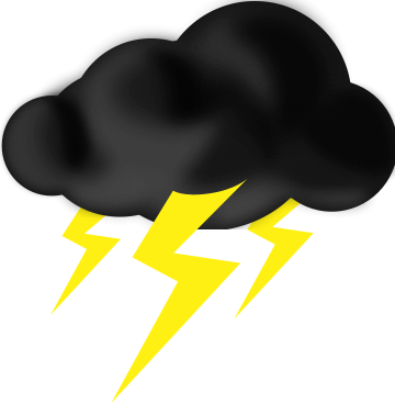 clip freeuse stock Thunder cloud clipart. Free lightning storm cliparts.
