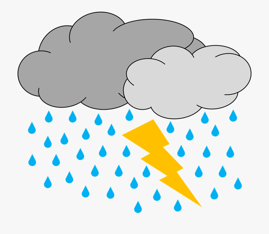 image black and white library Thunder and lightning clipart. Daily sketch rain raining