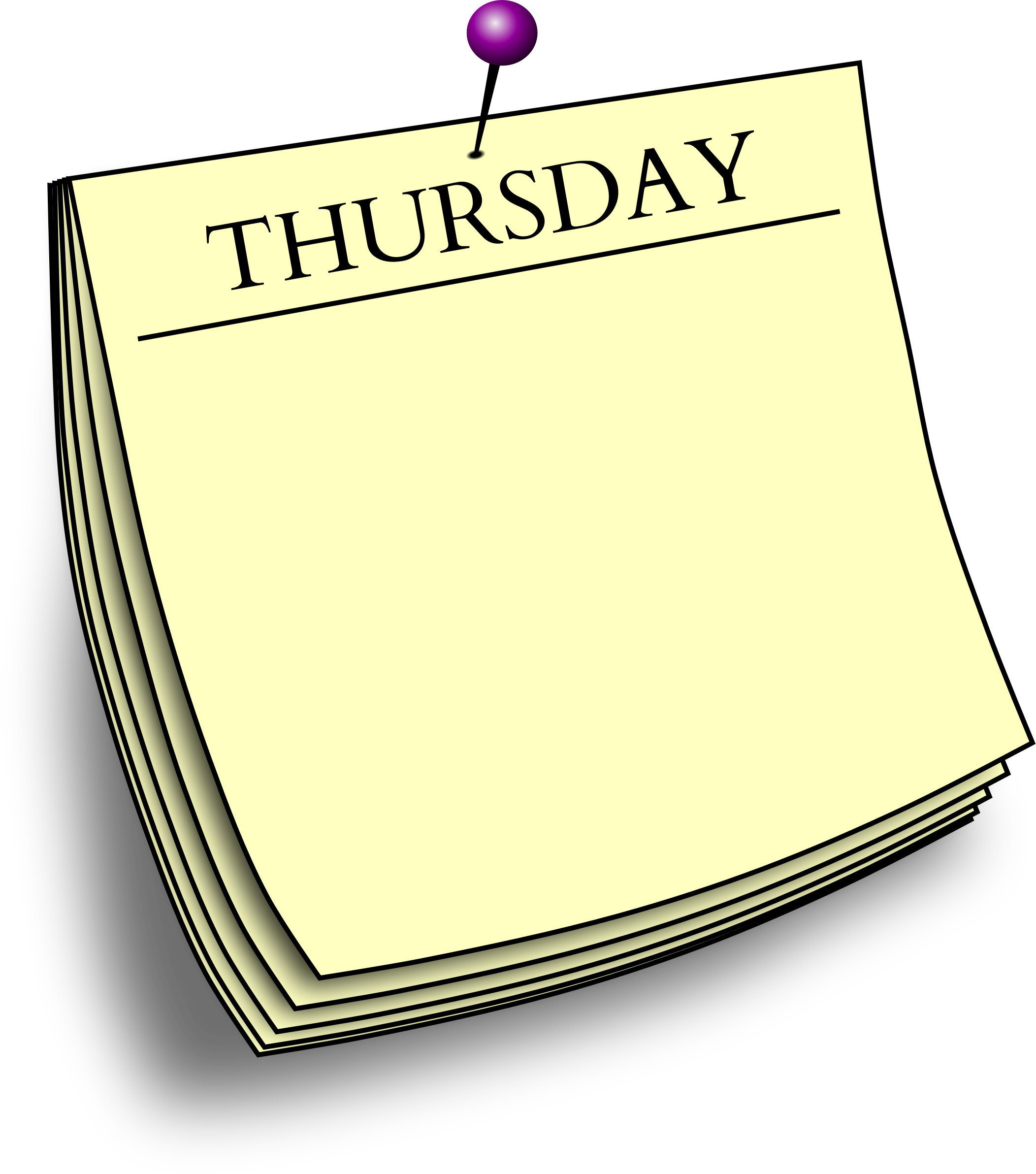 graphic library Daily note big image. Thursday clipart