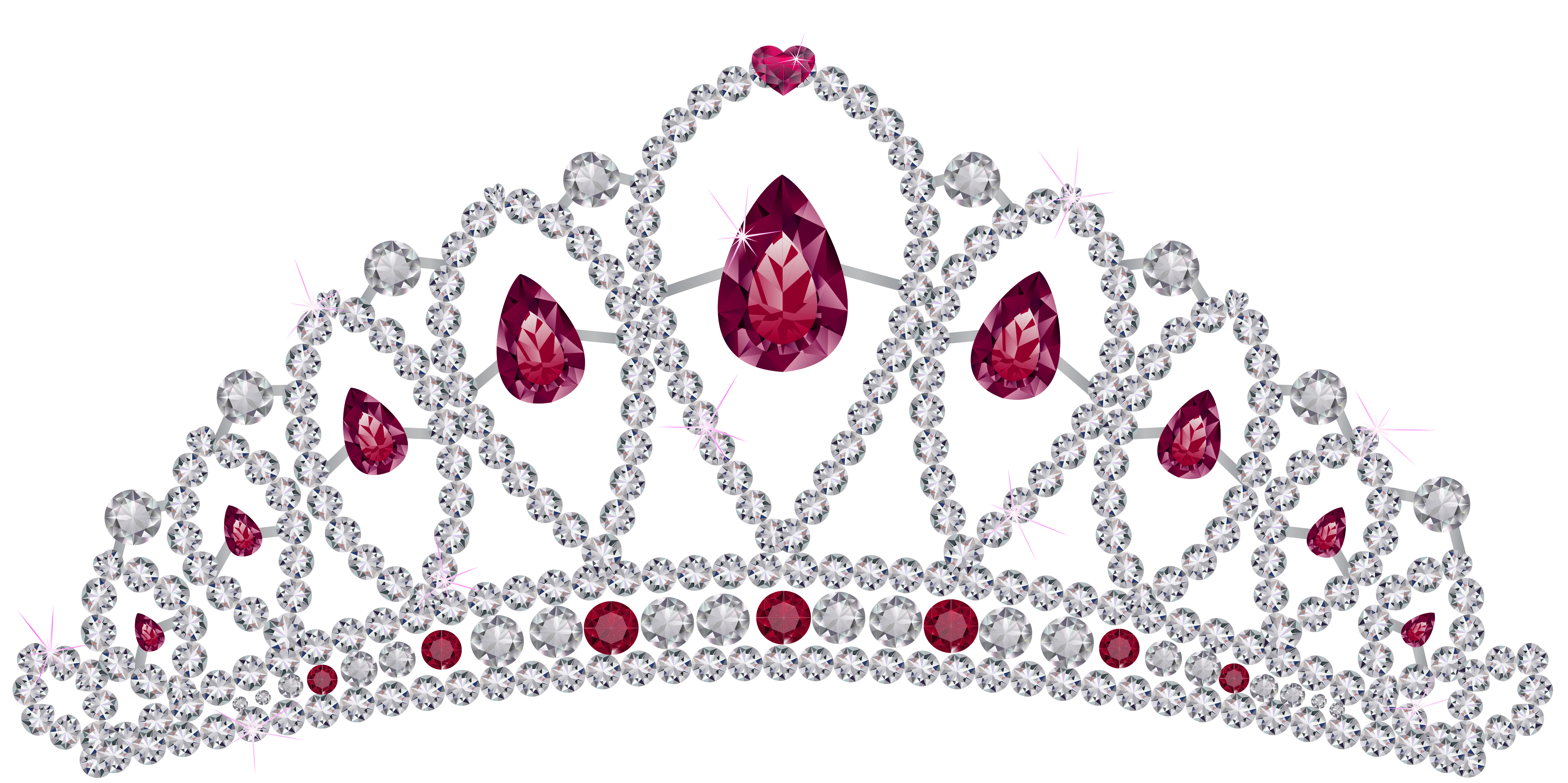 freeuse library Tiara clipart. Diamond with rubies png.