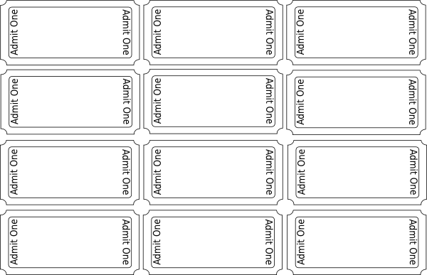clip art download Blank tickets template free. Arcade clipart raffle ticket