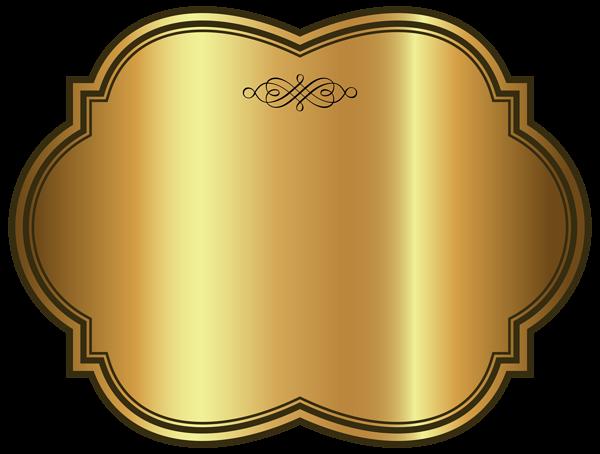 banner stock Golden luxury label template. Vector labels craft