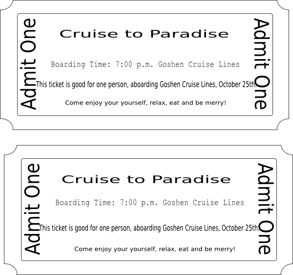 clipart library library Arcade clipart broadway ticket. Cheap carnival cruise tickets.