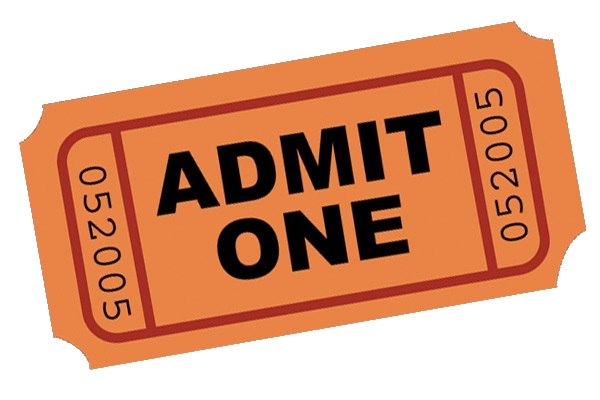 banner free stock PNG Tickets Admit One Transparent Tickets Admit One