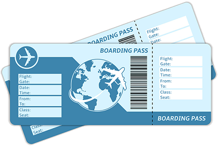jpg freeuse library Plane ticket png