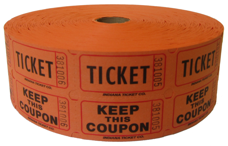 vector black and white stock Double Roll Raffle Tickets