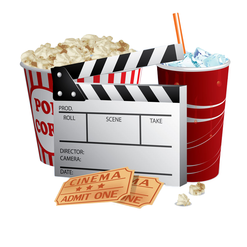 clip free Popcorn Cinema Ticket Film
