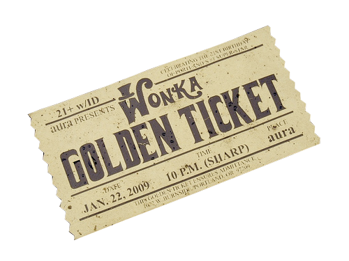 jpg royalty free download Golden Ticket