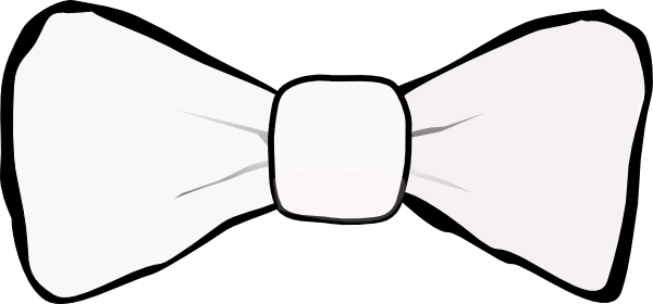 banner transparent stock Bowtie clipart black and white. Tie silhouette at getdrawings.