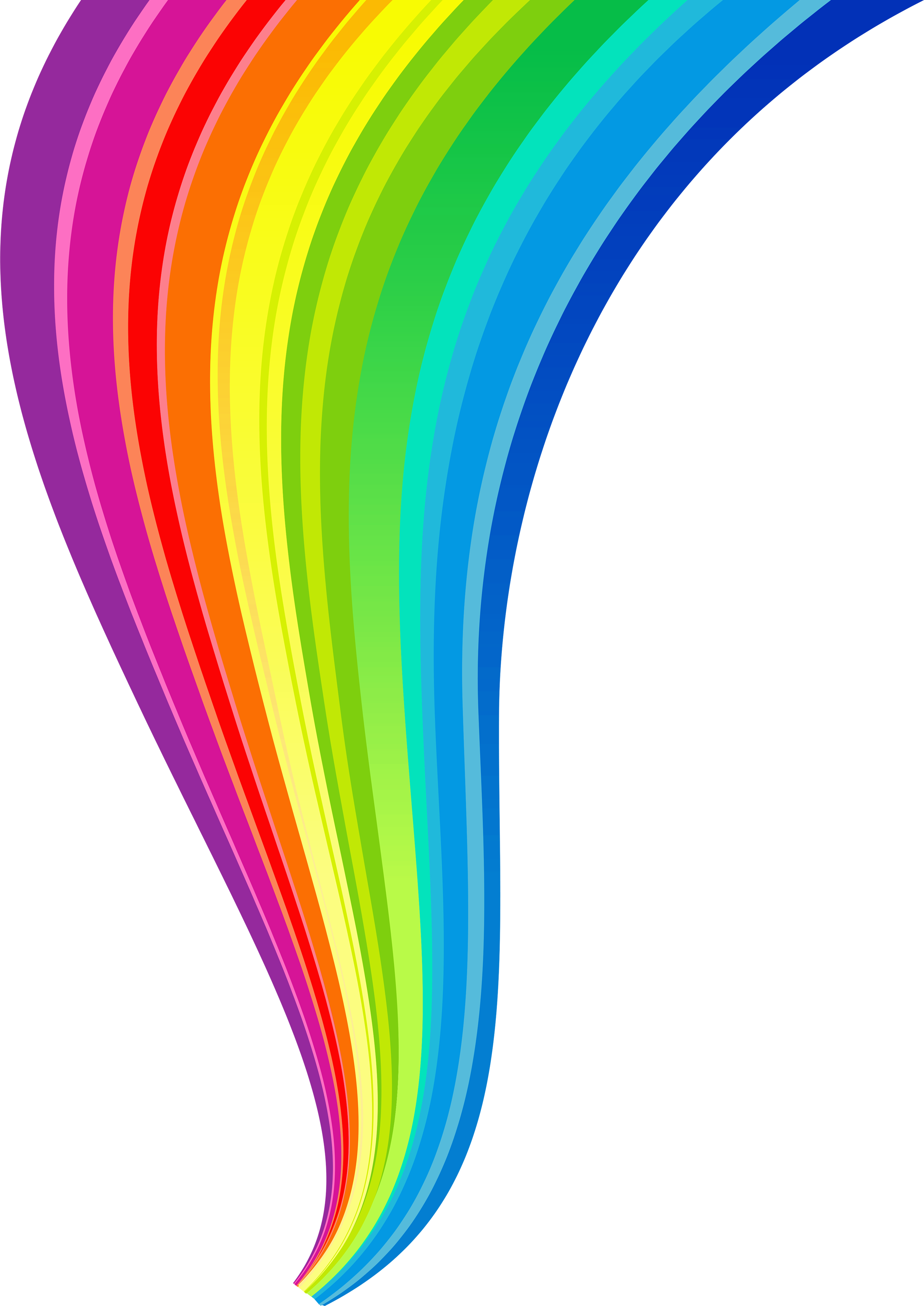 jpg black and white library Rainbow PNG images free download