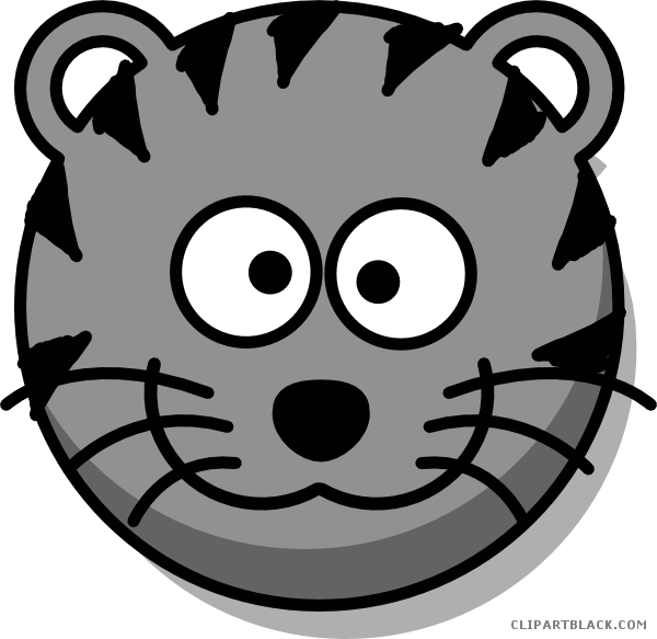 vector royalty free stock Tiger clipart face. Clipartblack com animal free