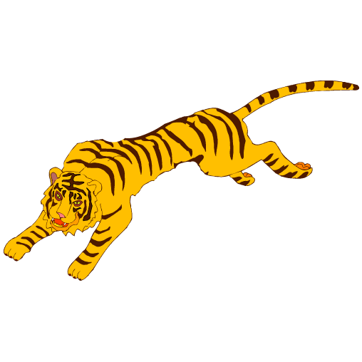 banner freeuse library running tiger clipart tiger l