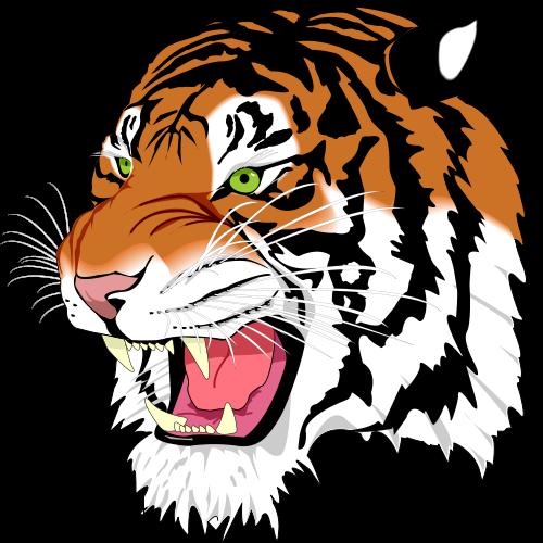 clip library for a tiger face clip art