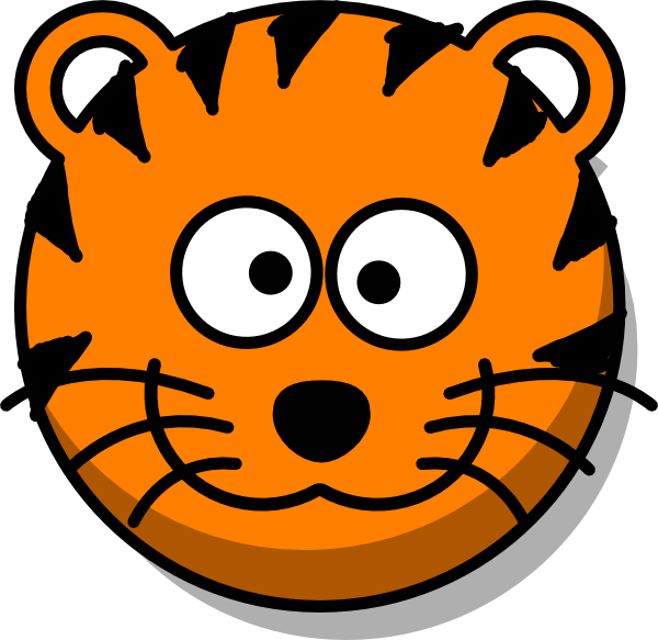 clip art Image of Tiger Face Clipart