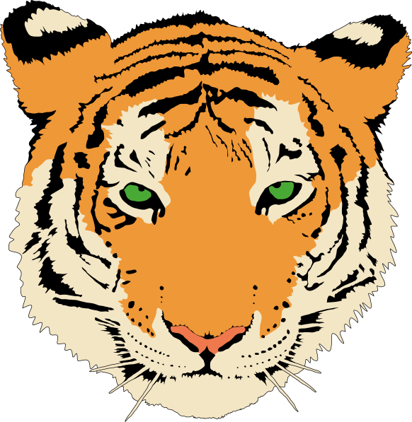 svg free download Tiger face clipart black and white. Clip art panda free