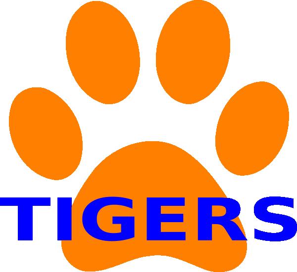 graphic royalty free Orange Paw Print Tigers