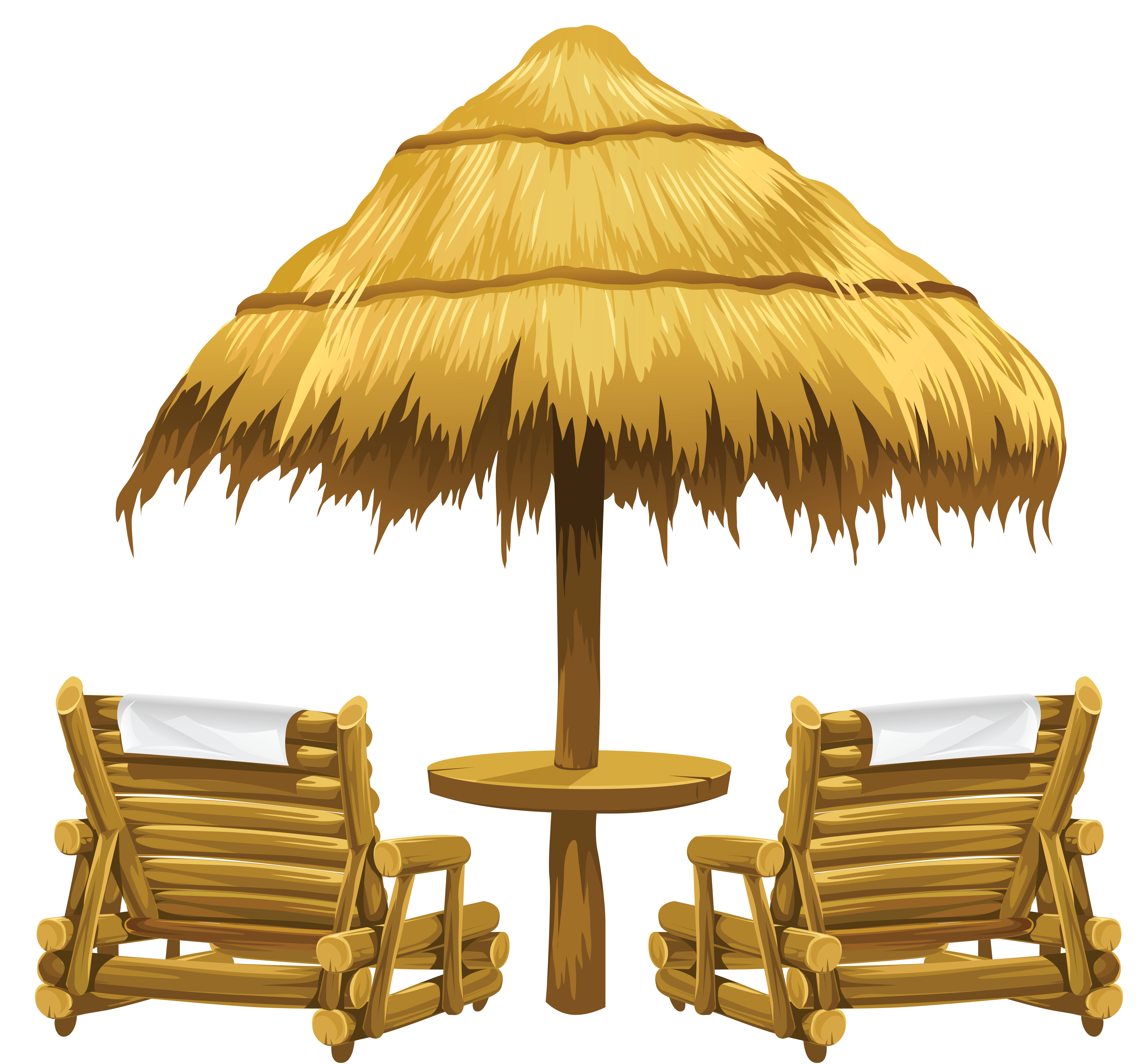 jpg black and white download Beach transparent aesthetic. Tiki umbrella and chairs